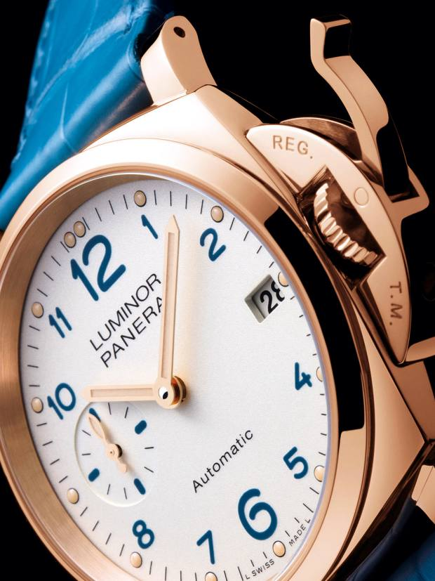 Panerai rose-gold Luminor Due on alligator strap, £13,000