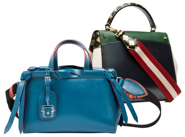 bcfd42ea0a From left  Paula Cademartori leather Linda bag with Sporty strap