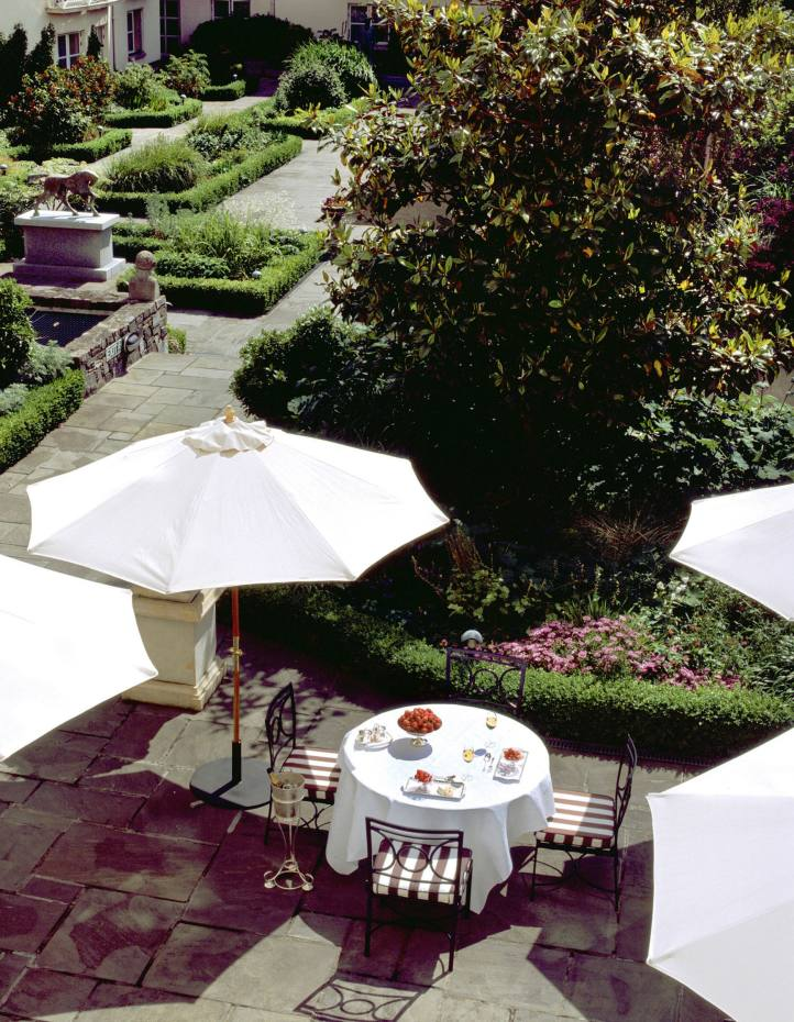 The terrace at The Merrion Hotel in Dublin