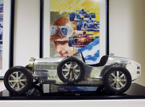 Sculpture of the Grand Prix supercharged 1931 Bugatti Type 51 by Bruno Colombi, series from £8,000