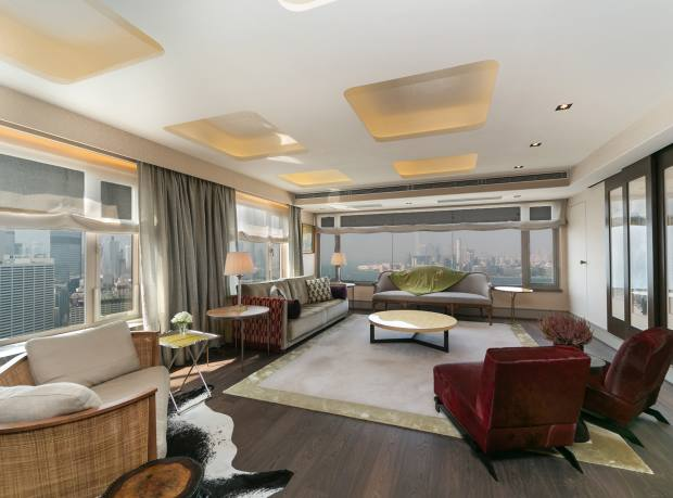 A three-bedroom duplex at Park Towers in North Point, Hong Kong, about £10.7m through Hong Kong Sotheby's International Realty