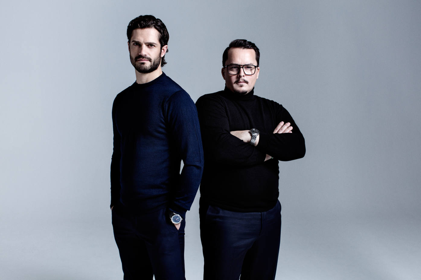 Designers Prince Carl Philip of Sweden, left, and Oscar Kylberg have worked together as Bernadotte & Kylberg since 2012