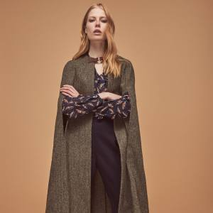 Tweed Longline cape, £595
