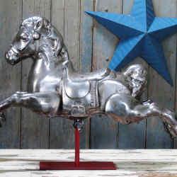 1950s steel fairground horse, £675 at Lassco
