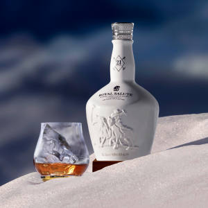 Royal Salute's new Snow Polo whisky, developed by the distillery's master blender Sandy Hyslop, is only available for a limited time