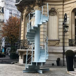 The segment of Eiffel Tower staircase that is to be auctioned at an estimated €40,000 to €60,000