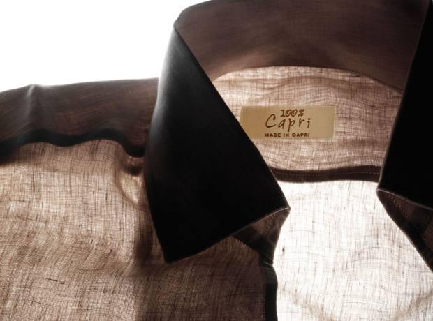 Linen shirt, €260, by 100% Capri.