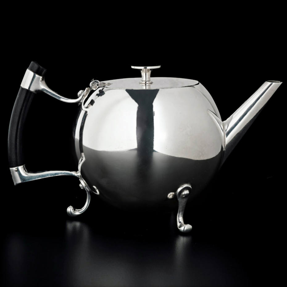 1879 Christopher Dresser teapot, £9,500 from H Blairman & Sons