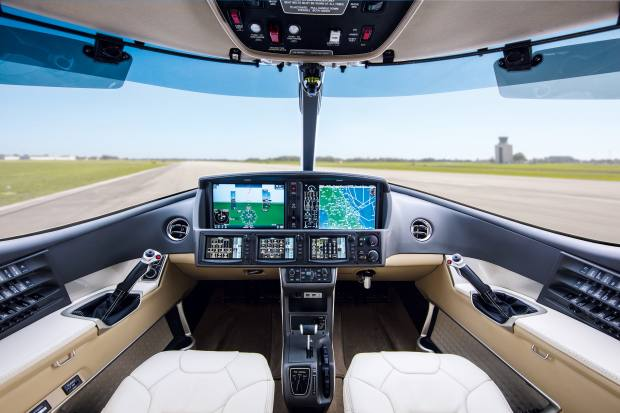 The Vision Jet has plenty of electronic help for pilots