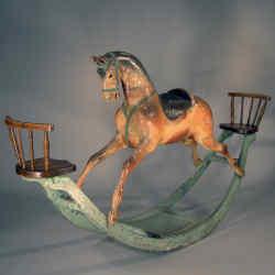 Late-1800s rocking horse, $8,900, from R Jorgensen