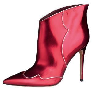 Gianvito Rossi Annie Rebel patent boots, £750. Also in black