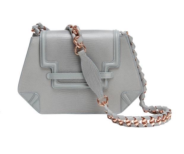 Ella Rabener lizard-effect calfskin and rose-gold-plate Ava bag, £549