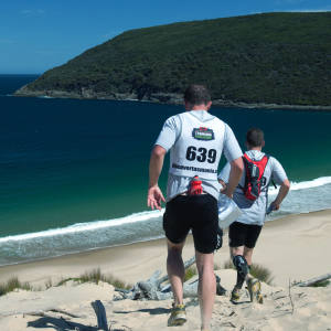 Competitors take part in teams of two in the Mark Webber Tasmania Challenge.