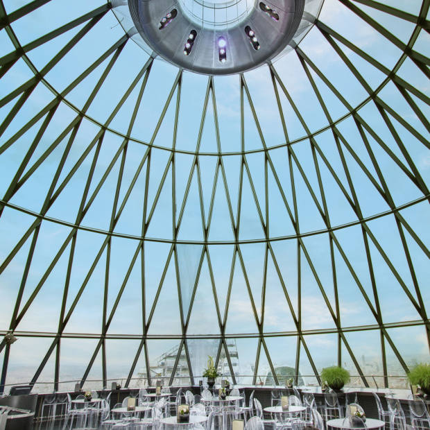 The brunches will take place on Sundays throughout December in the Iris Bar at the top floor of The Gherkin, which boasts 360-degree panoramic views of the city
