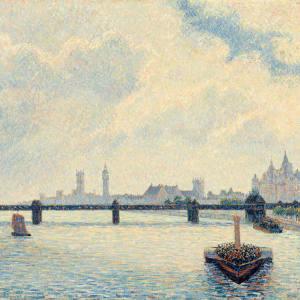 Charing Cross Bridge, London, 1890, by Camille Pissarro