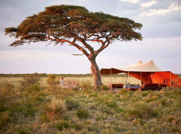 A mobile camp in Botswana