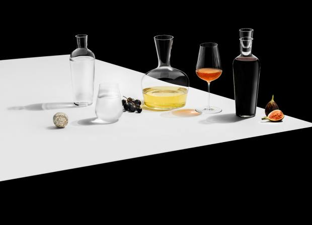 The 1 Collection also features a water glass, £50 for a pair, a young wine decanter, £100, an old wine decanter, £125,and a water carafe, £95
