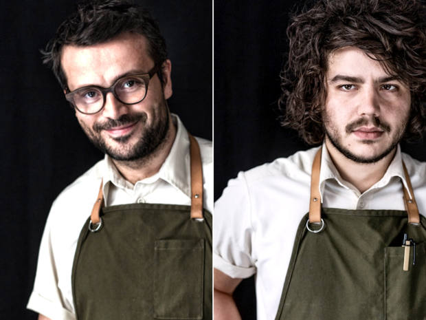 At the helm of the event is Relæ's proprietor-chef Christian Puglisi, left, who will be accompanied by his sommelier and business partner Alessandro Perricone