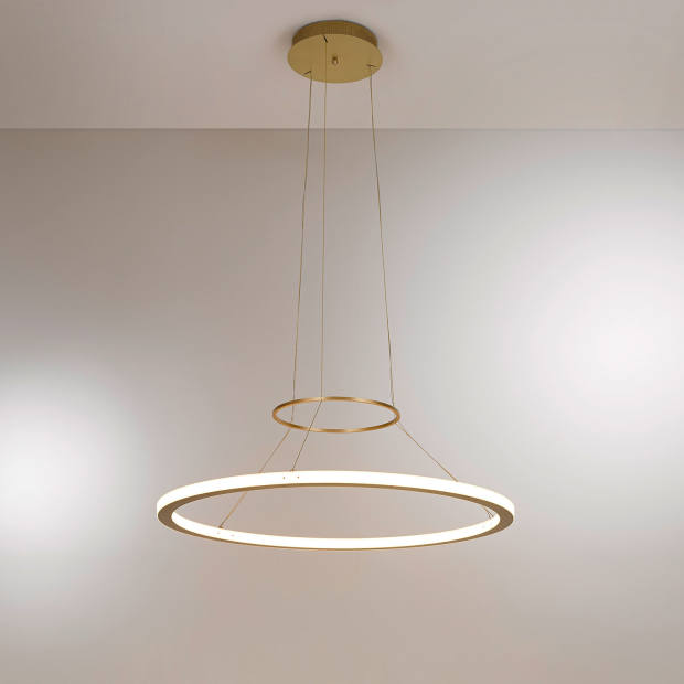 Kaia Lighting brass RIO In and Out Suspension light, £7,020