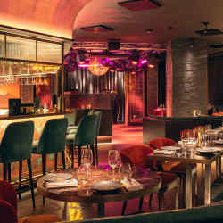 The venue – designed with a central bar – will serve dinner and drinks in the early evening and host dancing into the small hours
