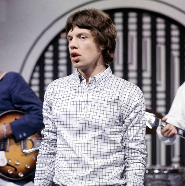 Mick Jagger wore popover shirts in the 1960s