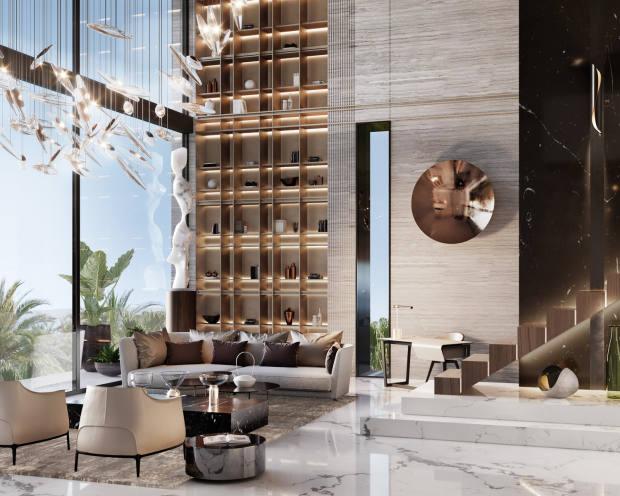 A Roar-designed master lounge in Kuwait