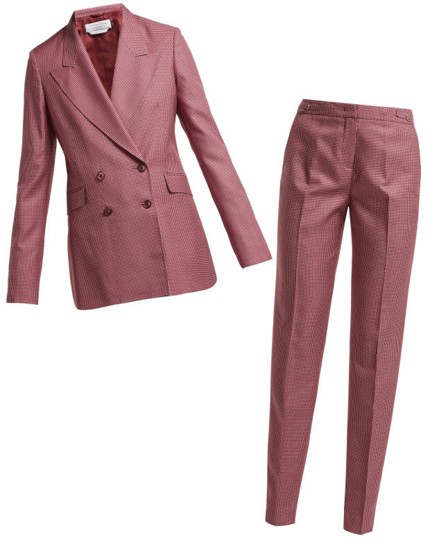 Gabriela Hearst wool-blend Sophie blazer, £1,595, and wool-blend Lisa trousers, £715, both exclusive to Matchesfashion.com