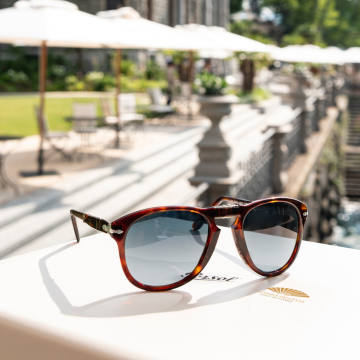The Mandarin Oriental Lake Como pop-up is offering Persol sunglasses engraved with the buyer's initials