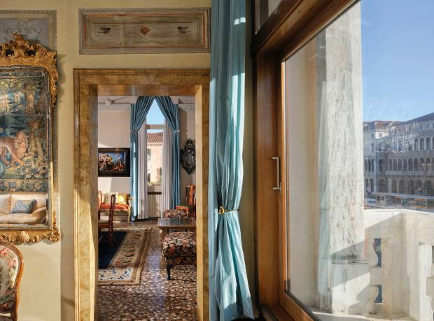 A four-bedroom apartment in a palazzo on Venice's Grand Canal, €5.9m through Sotheby's International Realty