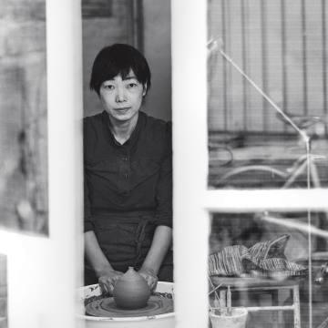 Ceramist Akiko Hirai in her Dalston studio