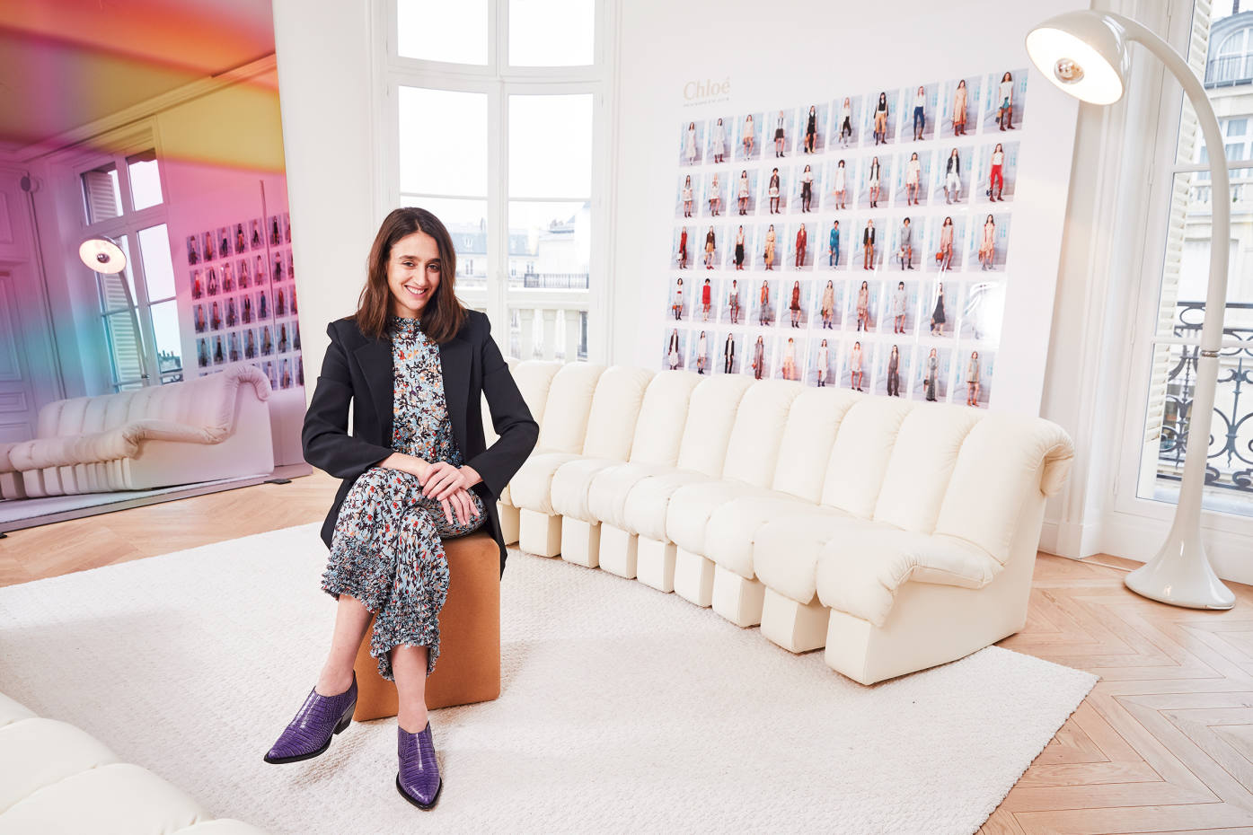 Natacha Ramsay-Levi, Chloé's new creative director, in her Paris office