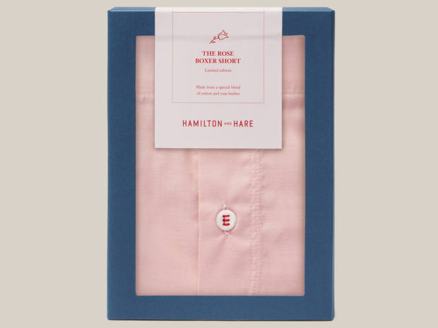 Hamilton and Hare Rose Bush boxer shorts, £40