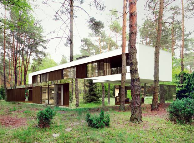 Izabelin House in rural Poland, by Reform Architekt's Marcin Tomaszewski; similar projects, from €500,000