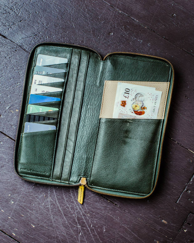 Paul de Zwart's leather wallet from Want Les Essentiels, a present from his wife