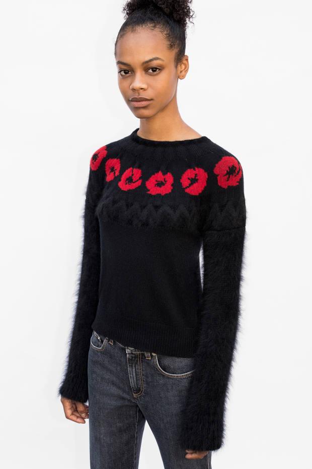 Kirsten Dunst's angora, wool, silk and velvet jumper, £785