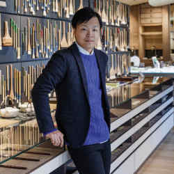 Masayoshi Nojo, the artist who runs the store