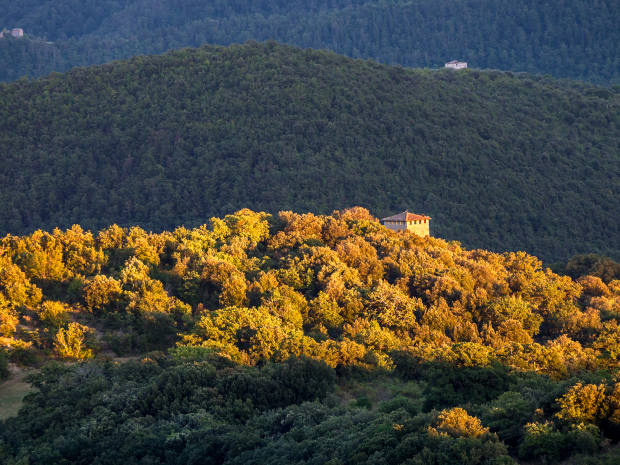 Santa Croce's hilltop location affords spectacular views of the surrounding countryside