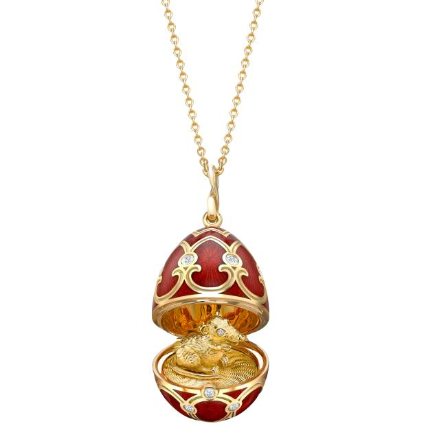 Fabergé Chinese New Year Palais Tsarskoye Selo locket with rat surprise (£8,640)
