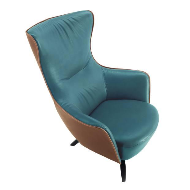 Poltrona Frau leather Mamy Blue armchair, £3,440