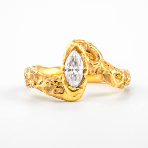 Bespoke 18ct gold ring with a 1.1ct diamond, price on request