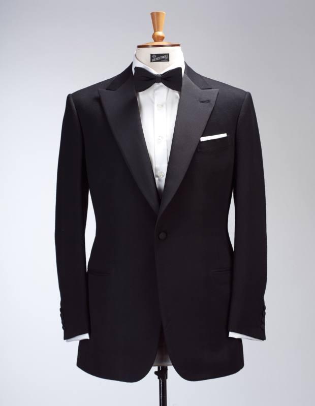 Henry Poole bespoke barathea dinner suit, from £4,200