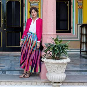 Marie-Hélène de Taillac at Narain Niwas Palace hotel