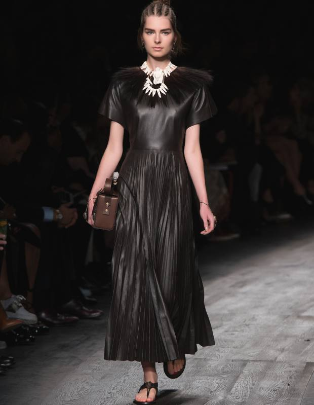 Valentino leather dress, £3,920