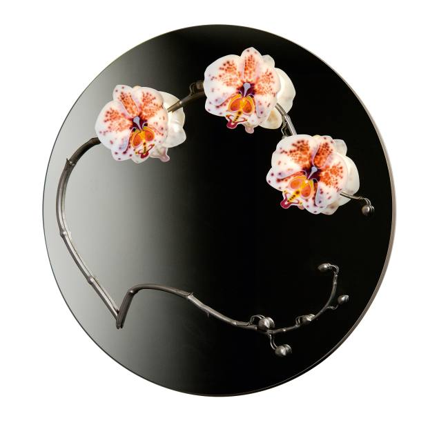 Laura Hart for Vessel Gallery glass and steel Orchid mirror, £7,900