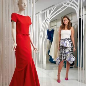 Noor Al-Sabah with a Katie Ermilio scoop-back tailored dress, £3,300