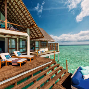 One of the spacious villas at Four Seasons Maldives at Landaa Giraavaru