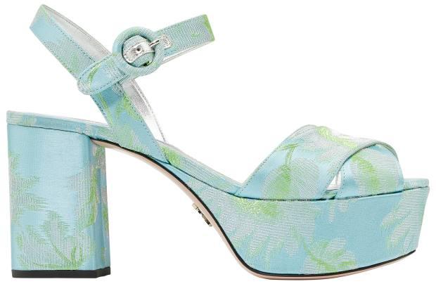 Prada brocade platform shoes, £610