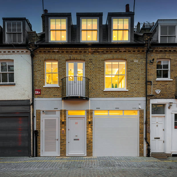 A four-bedroom house in Queen's Gate Place Mews, Chelsea, £6.95m through Strutt & Parker and Hamptons International