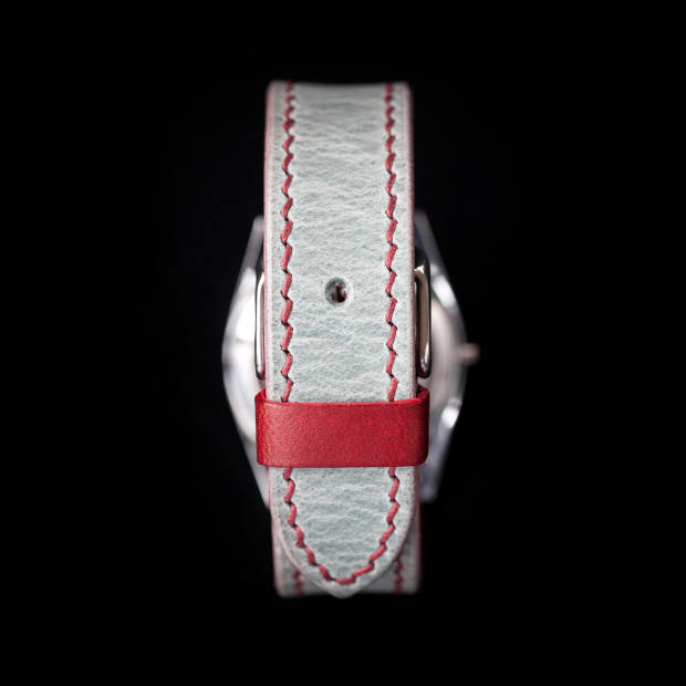 Sabel hand-stitched watch strap, from £120