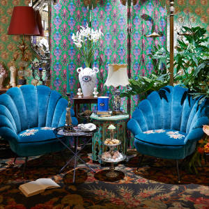 There is a series of fantasy rooms to explore at Gucci's temporary Décor store
